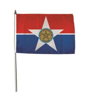 Stockflagge Dallas 30 x 45 cm