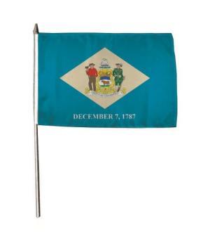 Stockflagge Delaware 30 x 45 cm