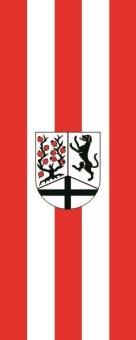 Flagge Delbrück im Hochformat