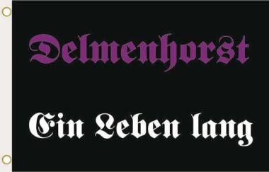 Fahne Delmenhorst ein Leben lang 90 x 150 cm