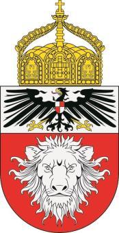 Aufkleber Deutsch Ostafrika mit Krone Wappen