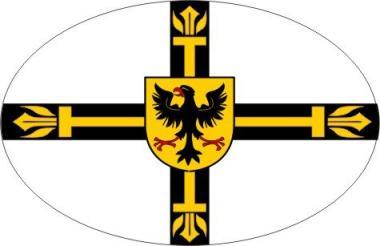 Aufkleber oval Deutscher Orden Hochmeister 10 x 6,5 cm