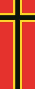 Flagge Deutscher Widerstand im Hochformat