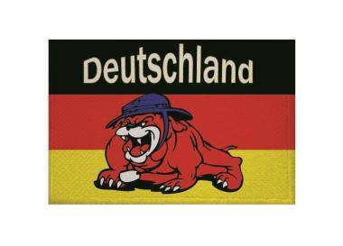 Aufnäher Patch Deutschland Bulldogge 9 x 6 cm