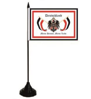 Tischflagge Deutschland Reichsadler meine Heimat 10 x 15 cm