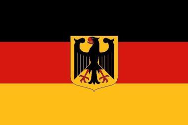 Fahne Deutschland mit Adler Hohlsaum 90 x 150 cm