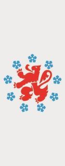 Flagge Deutschsprachige Gemeinschaft Belgiens im Hochformat