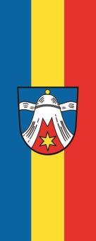 Flagge Dietramszell im Hochformat