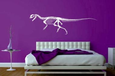 Wandtattoo Dilophosaurus Skelett