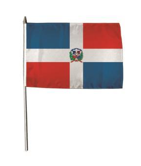 Stockflagge Dominikanische Republik 30 x 45 cm