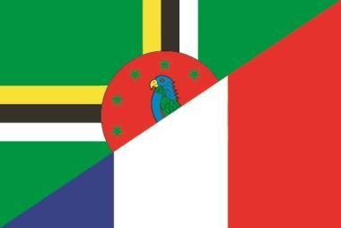 Aufkleber Dominica-Frankreich