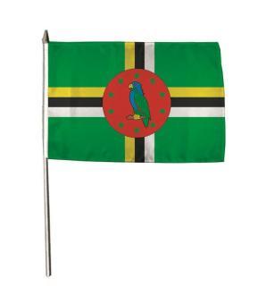Stockflagge Dominica 30 x 45 cm