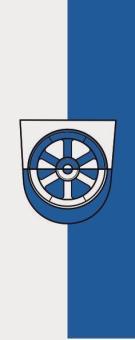 Flagge Donaueschingen im Hochformat