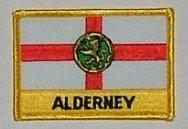 Aufnäher Alderney mit Schrift