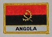 Aufnäher Angola mit Schrift
