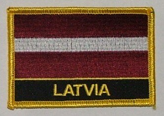 Aufnäher Lettland mit Schrift
