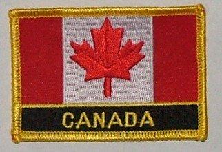 Aufnäher Kanada mit Schrift