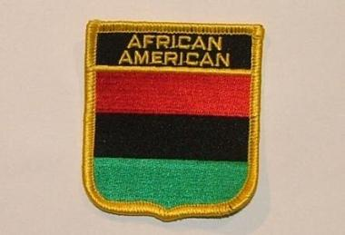 Wappenaufnäher African American Afro Americaner