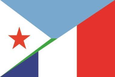 Aufkleber Dschibouti-Frankreich