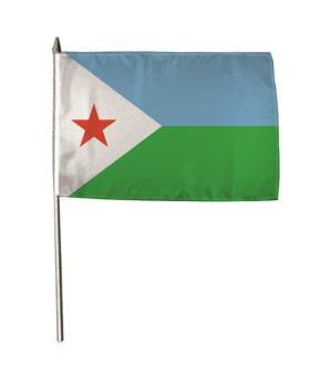 Stockflagge Dschibouti 30 x 45 cm