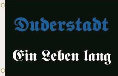 Fahne Duderstadt ein Leben lang 90 x 150 cm
