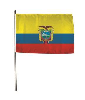 Stockflagge Ecuador 30 x 45 cm