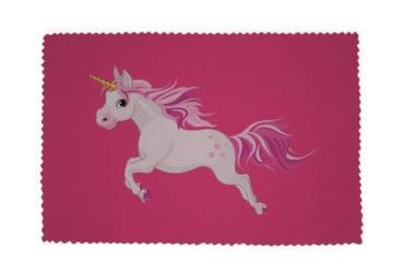 Glasreinigungstuch Einhorn Motiv Nr. 1 pink