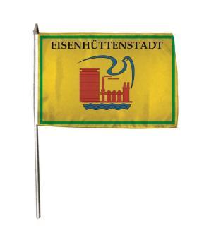 Stockflagge Eisenhüttenstadt 30 x 45 cm