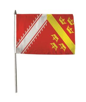 Stockflagge Elsass 30 x 45 cm