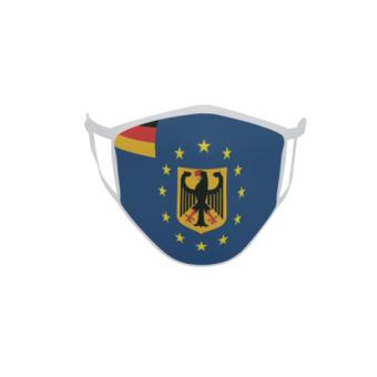 Gesichtsmaske Behelfsmaske Mundschutz Europa mit Deutschland Adler