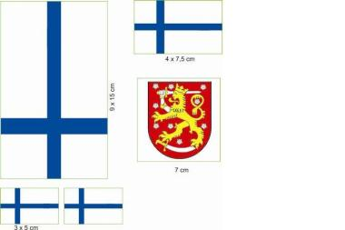 Aufkleberbogen Finnland