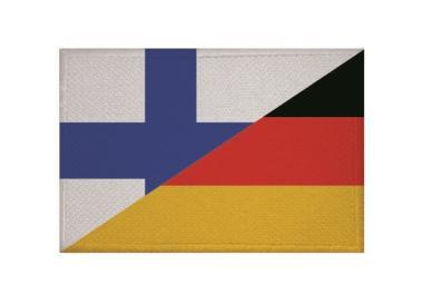 Aufnäher Patch Finnland - Deutschland 9 x 6 cm