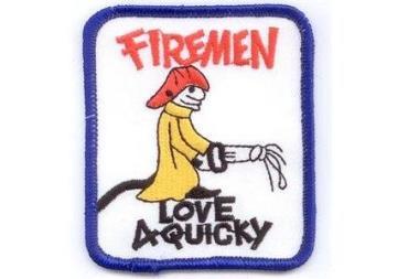 Aufnäher Firemen Love 4 Quicky