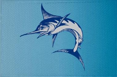 Aufnäher Fisch Schwertfisch Motiv Nr. 10 Patch 9 x 6 cm