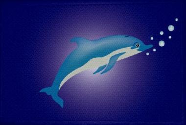 Aufnäher Fisch Delfin Motiv Nr. 16 Patch 9 x 6 cm
