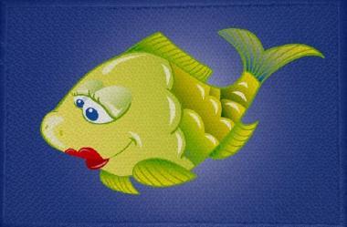 Aufnäher Fisch Motiv Nr. 2 Patch 9 x 6 cm