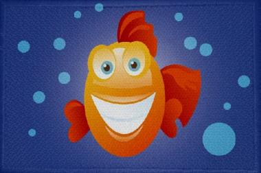 Aufnäher Fisch Motiv Nr. 3 Patch 9 x 6 cm