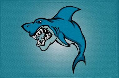 Aufnäher Fisch Hai Motiv Nr. 7 Patch 9 x 6 cm