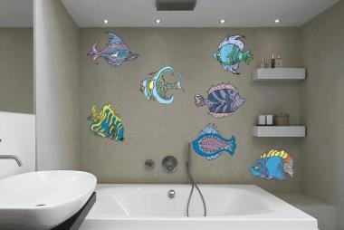 Wandtattoo Fische-Set Color Motiv Nr. 5