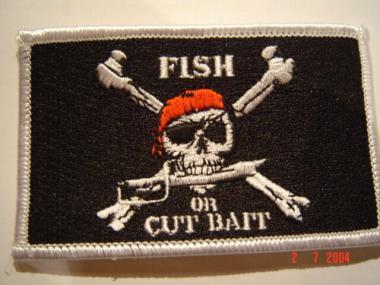 Aufnäher Fish or cut bait