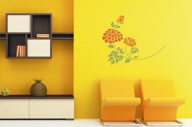 Wandtattoo Flower zweifarbig Motiv Nr. 1