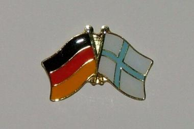 Freundschaftspin Deutschland - Finnland 25 x 15 mm