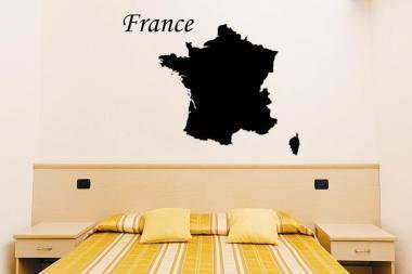 Wandtattoo Frankreich Karte