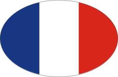 Aufkleber oval Frankreich 10 x 6,5 cm