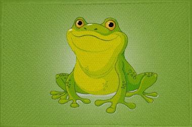 Aufnäher Frosch Motiv Nr. 11 Patch 9 x 6 cm
