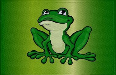 Aufnäher Frosch Motiv Nr. 14 Patch 9 x 6 cm