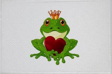 Aufnäher Frosch Motiv Nr. 21 Patch 9 x 6 cm