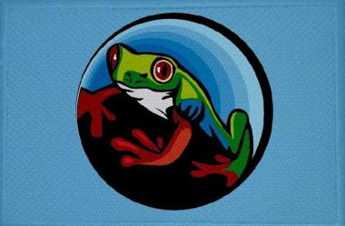 Aufnäher Frosch Motiv Nr. 22 Patch 9 x 6 cm