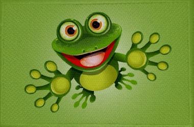 Aufnäher Frosch Motiv Nr. 8 Patch 9 x 6 cm