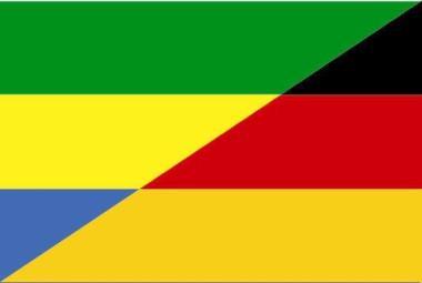 Flagge Gabun - Deutschland